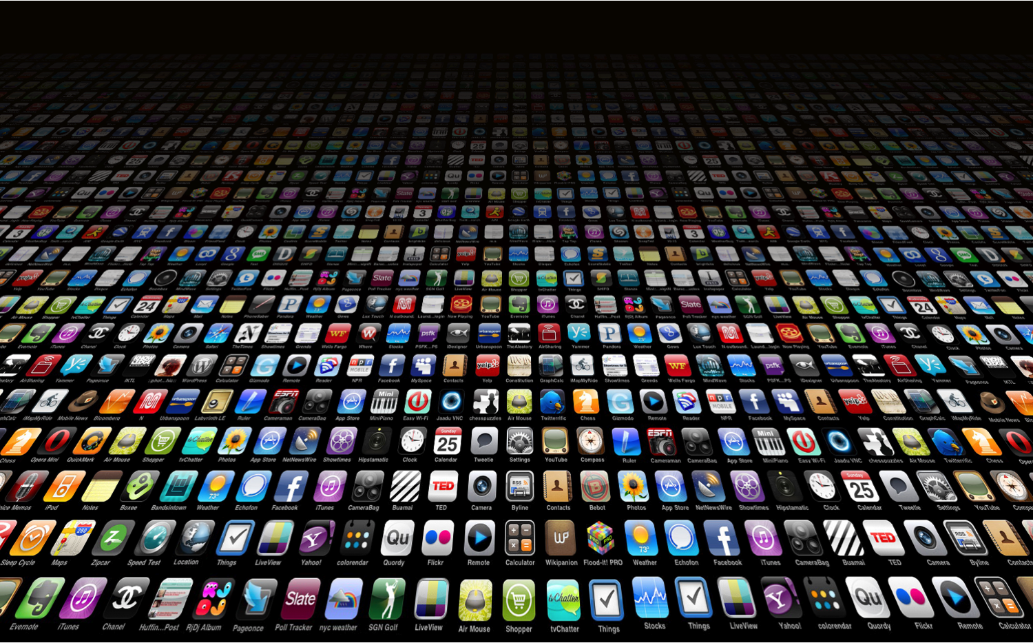 lots of app icons